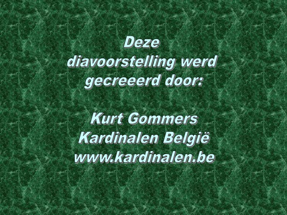 Deze diavoorstelling werd gecreeerd door: Kurt Gommers Kardinalen België www.kardinalen.be