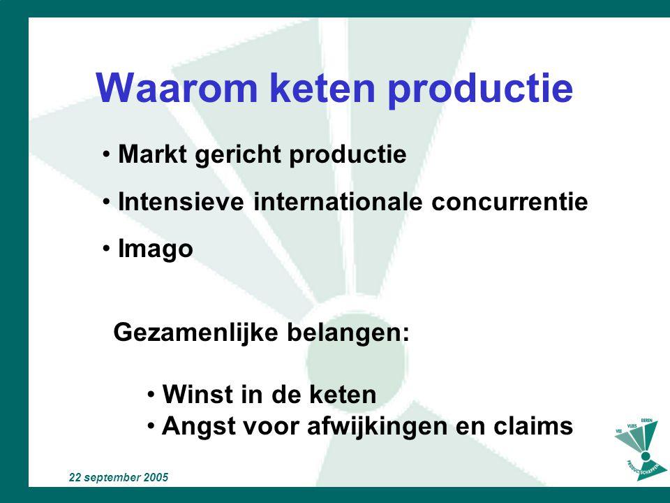 Waarom keten productie