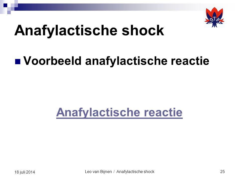 Anafylactische reactie