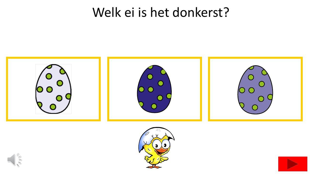 Welk ei is het donkerst