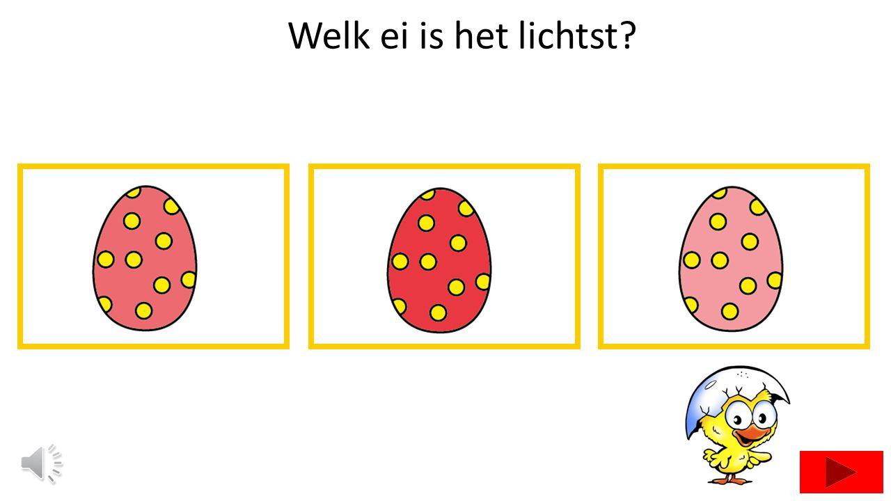 Welk ei is het lichtst