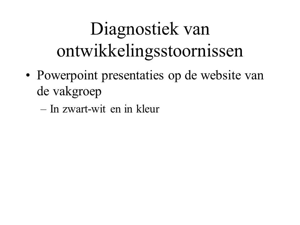 Diagnostiek van ontwikkelingsstoornissen