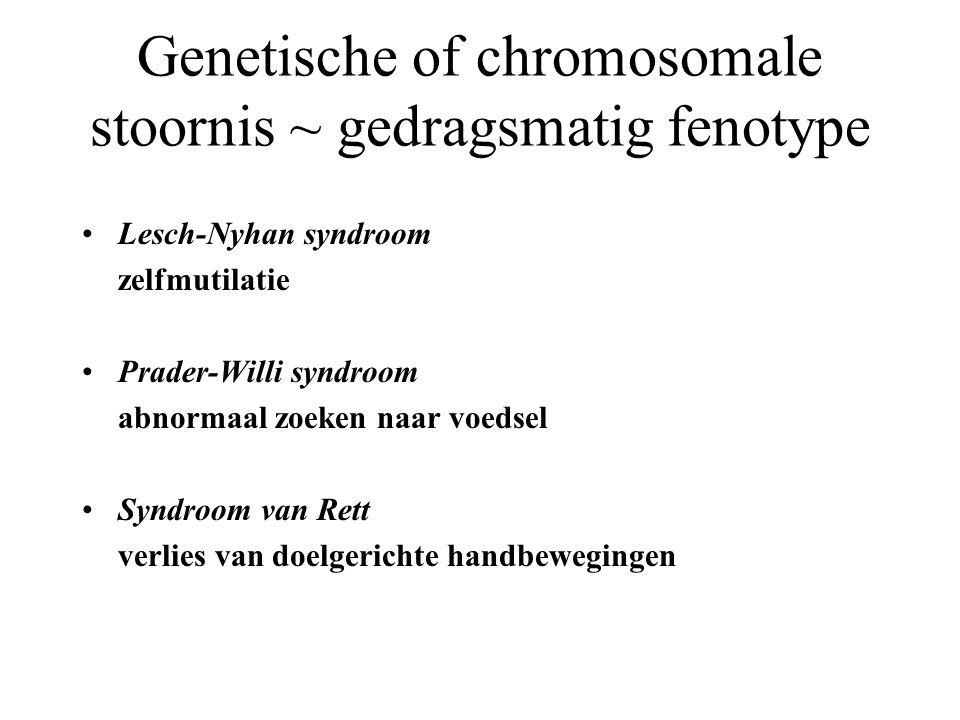 Genetische of chromosomale stoornis ~ gedragsmatig fenotype
