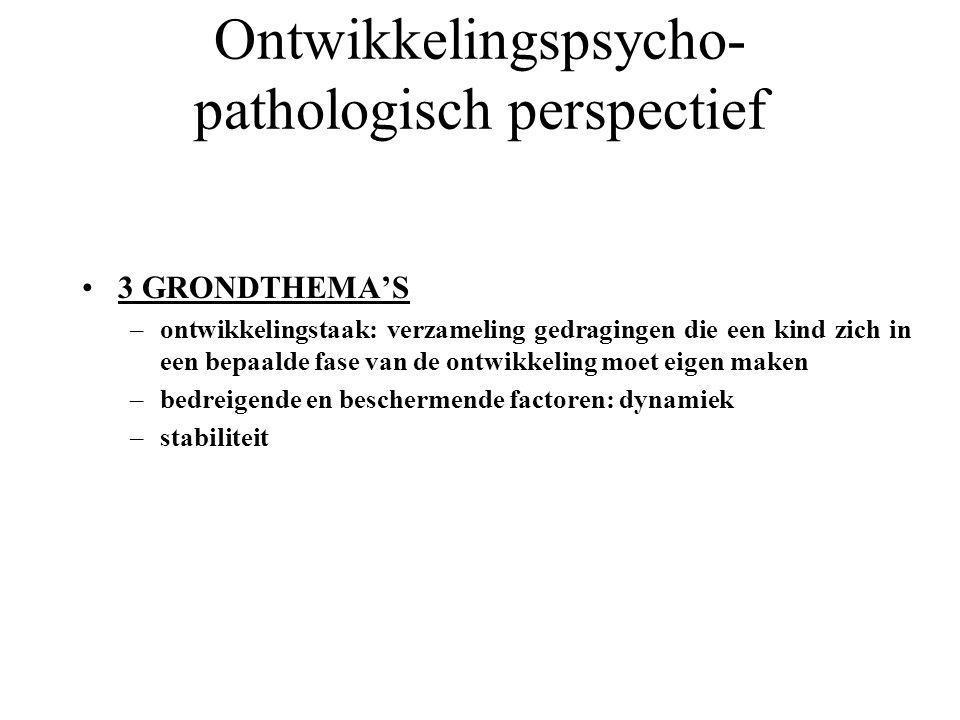 Ontwikkelingspsycho-pathologisch perspectief