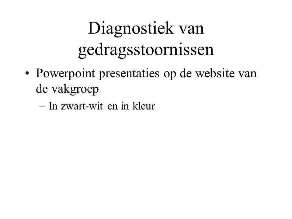 Diagnostiek van gedragsstoornissen