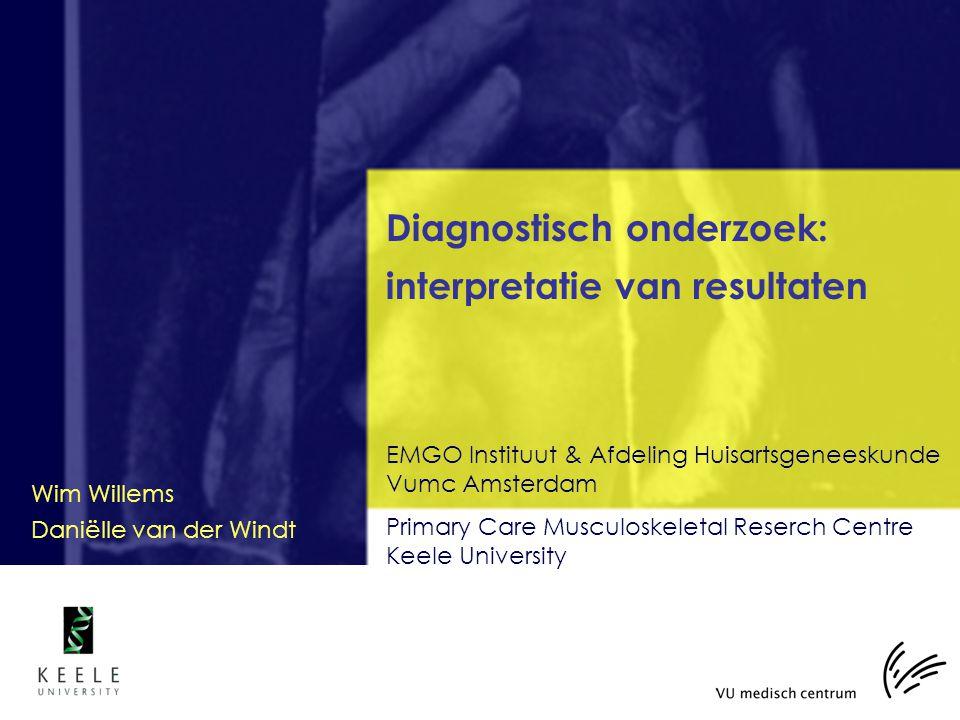 Diagnostisch onderzoek: interpretatie van resultaten