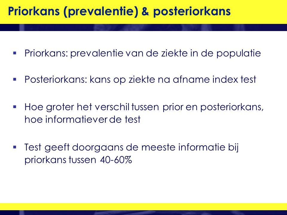 Priorkans (prevalentie) & posteriorkans