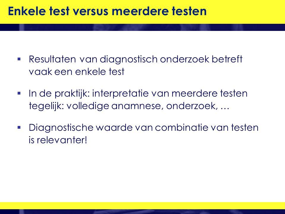Enkele test versus meerdere testen