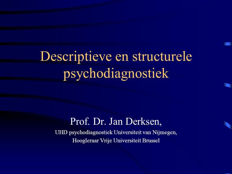 Descriptieve en structurele psychodiagnostiek