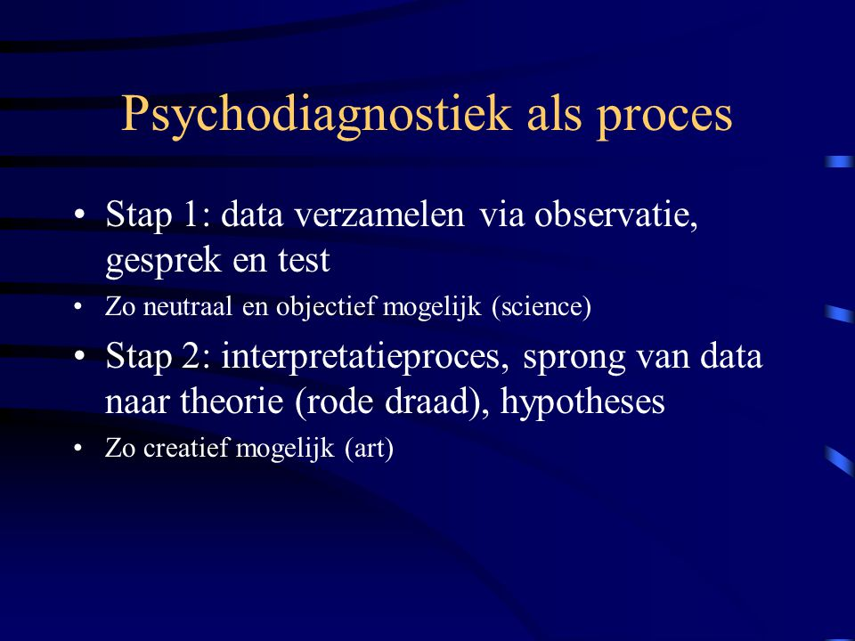 Psychodiagnostiek als proces