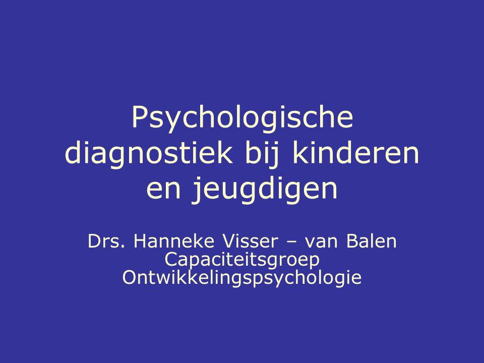 Psychologische diagnostiek bij kinderen en jeugdigen