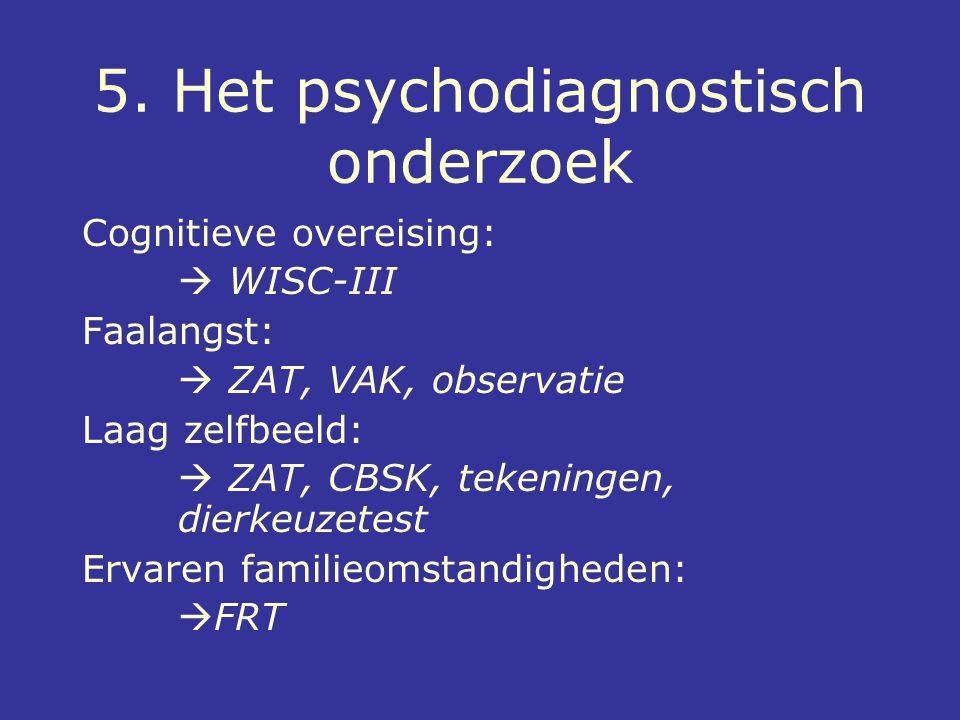 5. Het psychodiagnostisch onderzoek
