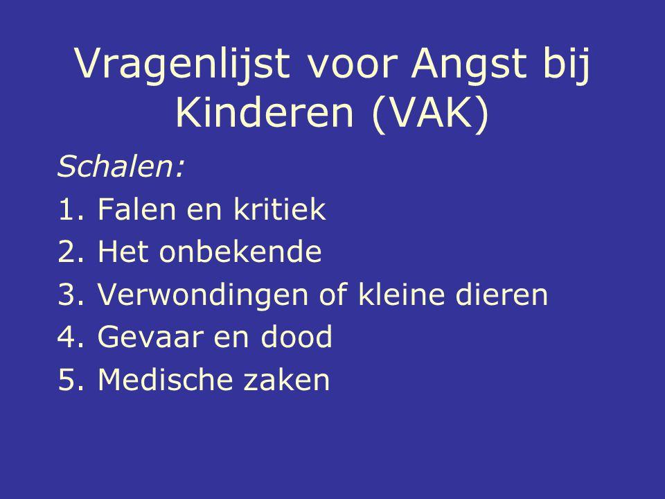 Vragenlijst voor Angst bij Kinderen (VAK)