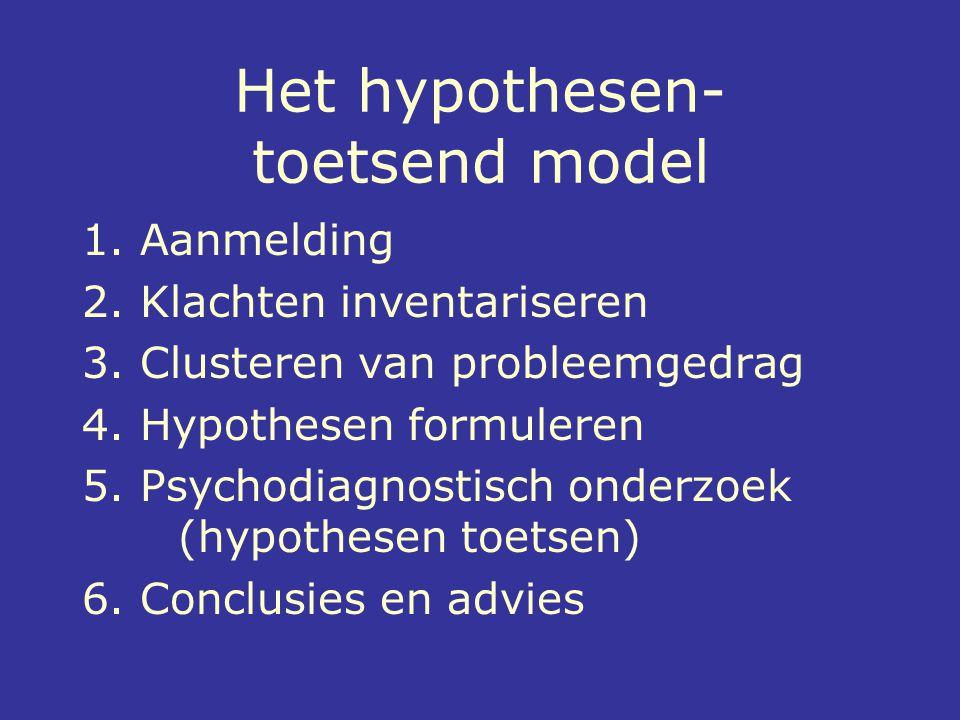 Het hypothesen- toetsend model