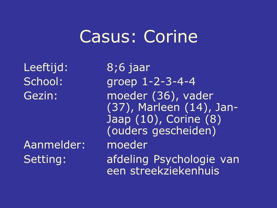 Casus: Corine Leeftijd: 8;6 jaar School: groep 1-2-3-4-4