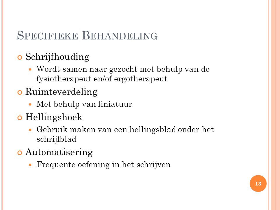 Specifieke Behandeling