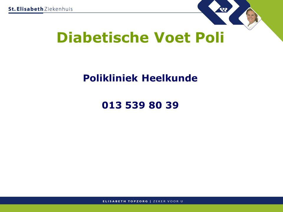 Polikliniek Heelkunde 013 539 80 39