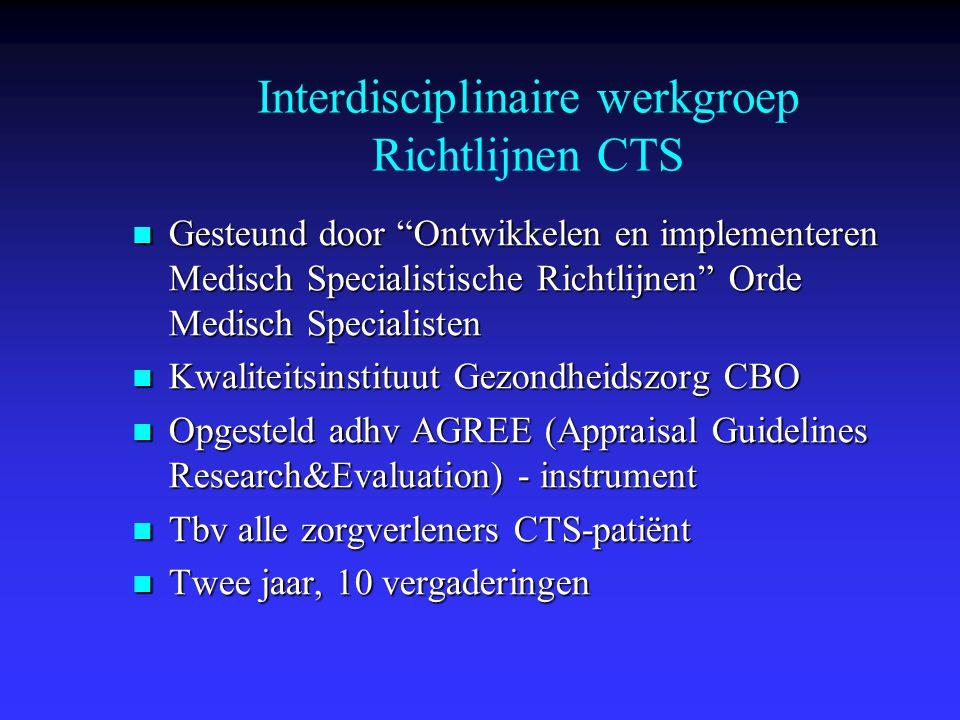 Interdisciplinaire werkgroep Richtlijnen CTS