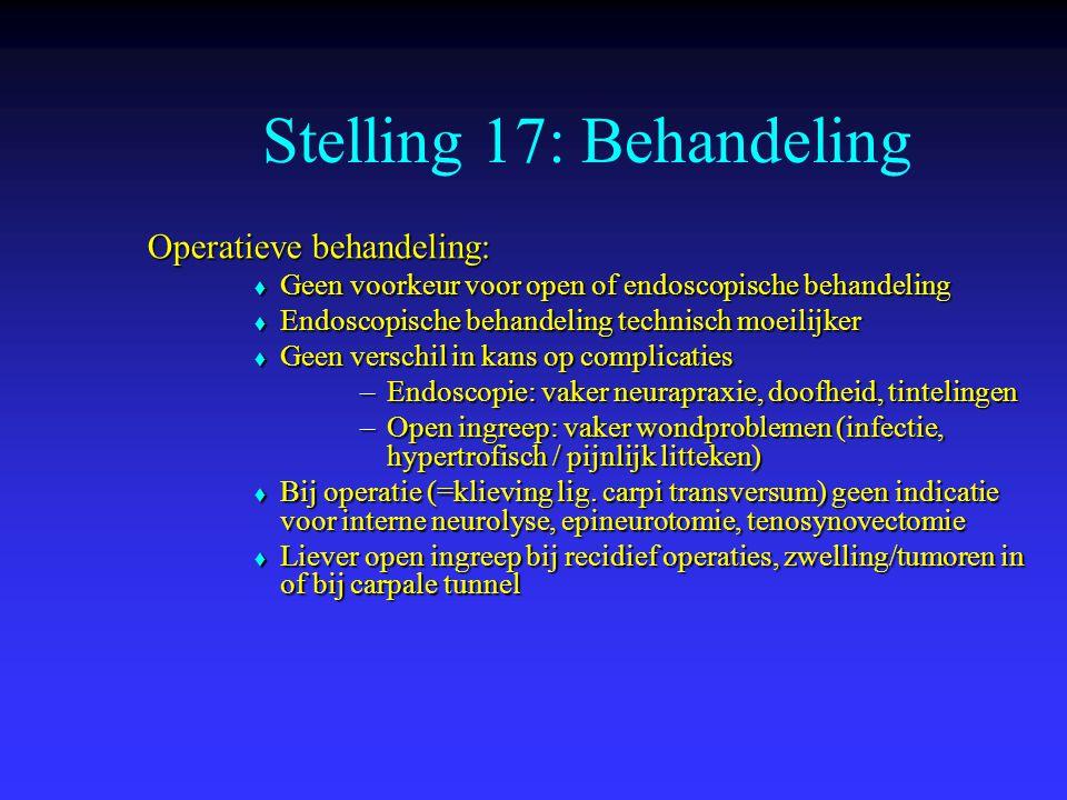 Stelling 17: Behandeling