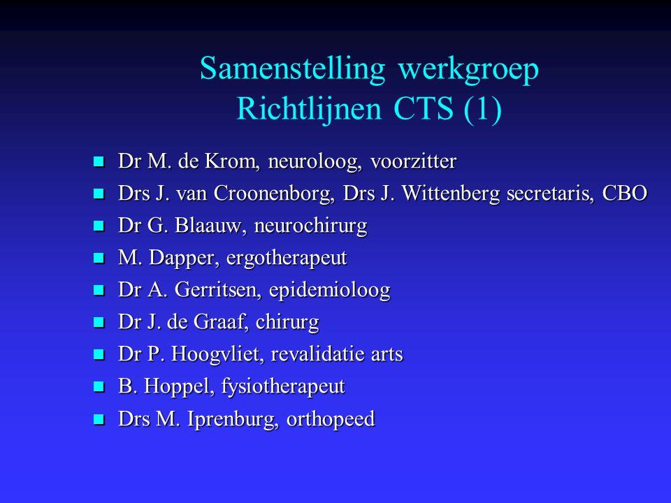 Samenstelling werkgroep Richtlijnen CTS (1)