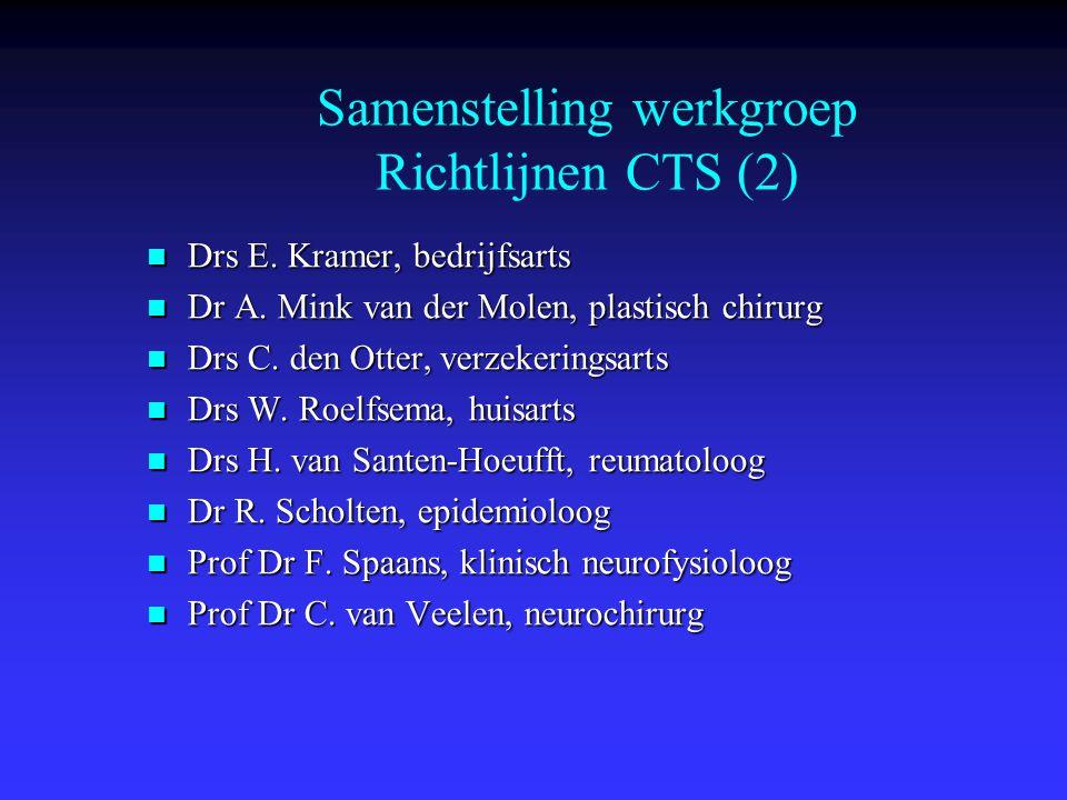 Samenstelling werkgroep Richtlijnen CTS (2)