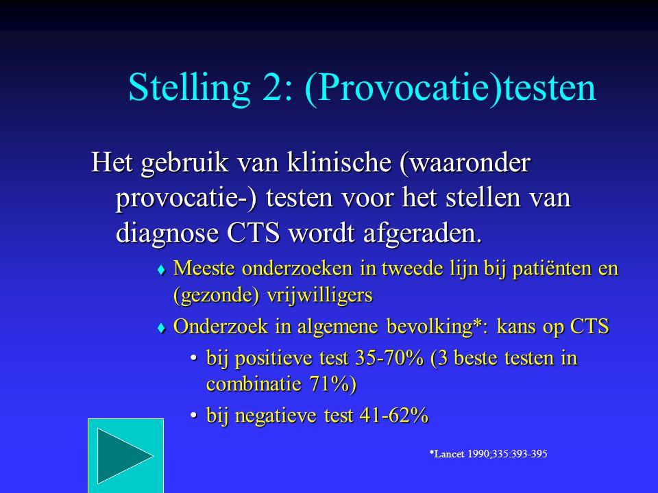 Stelling 2: (Provocatie)testen