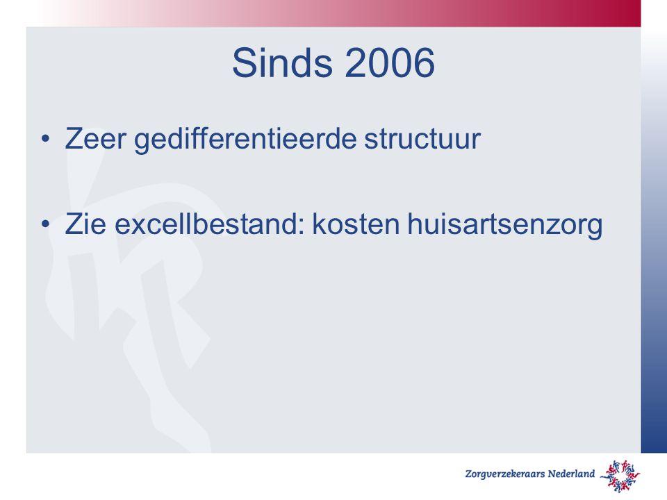 Sinds 2006 Zeer gedifferentieerde structuur