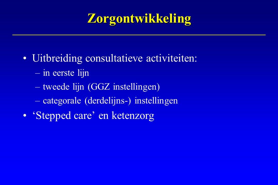 Zorgontwikkeling Uitbreiding consultatieve activiteiten: