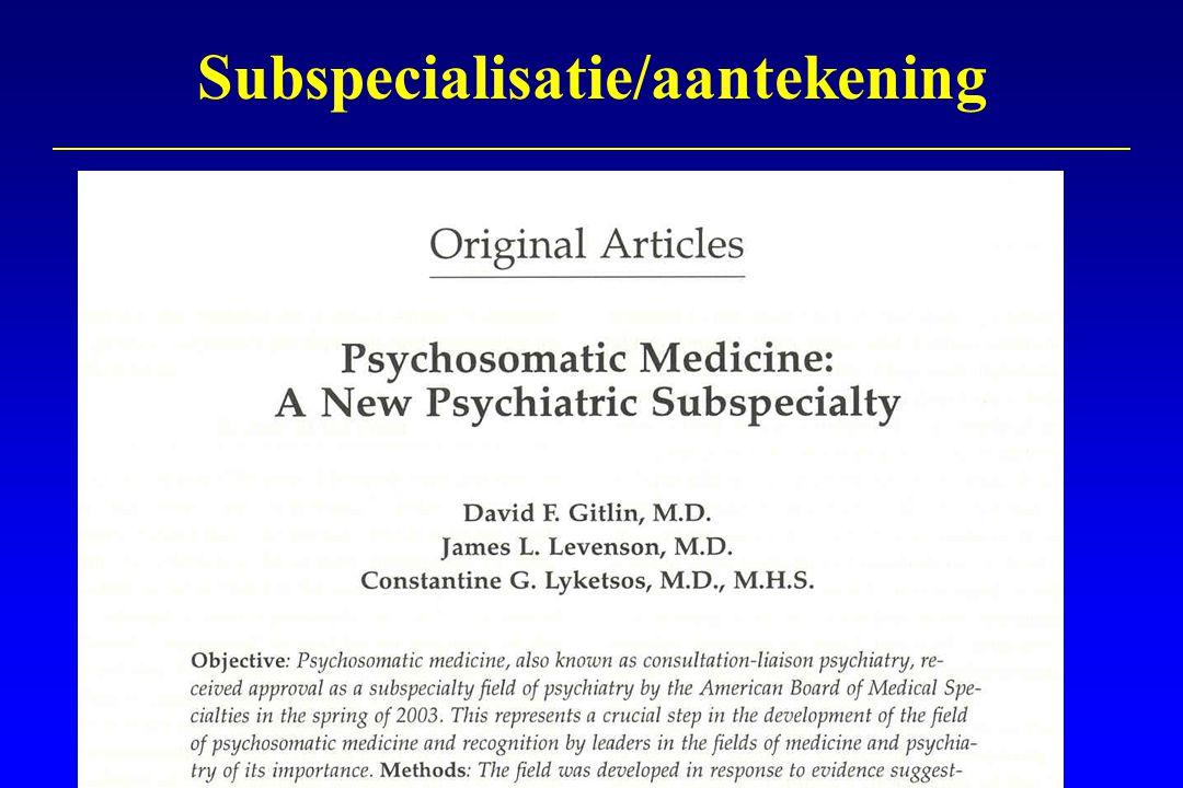 Subspecialisatie/aantekening