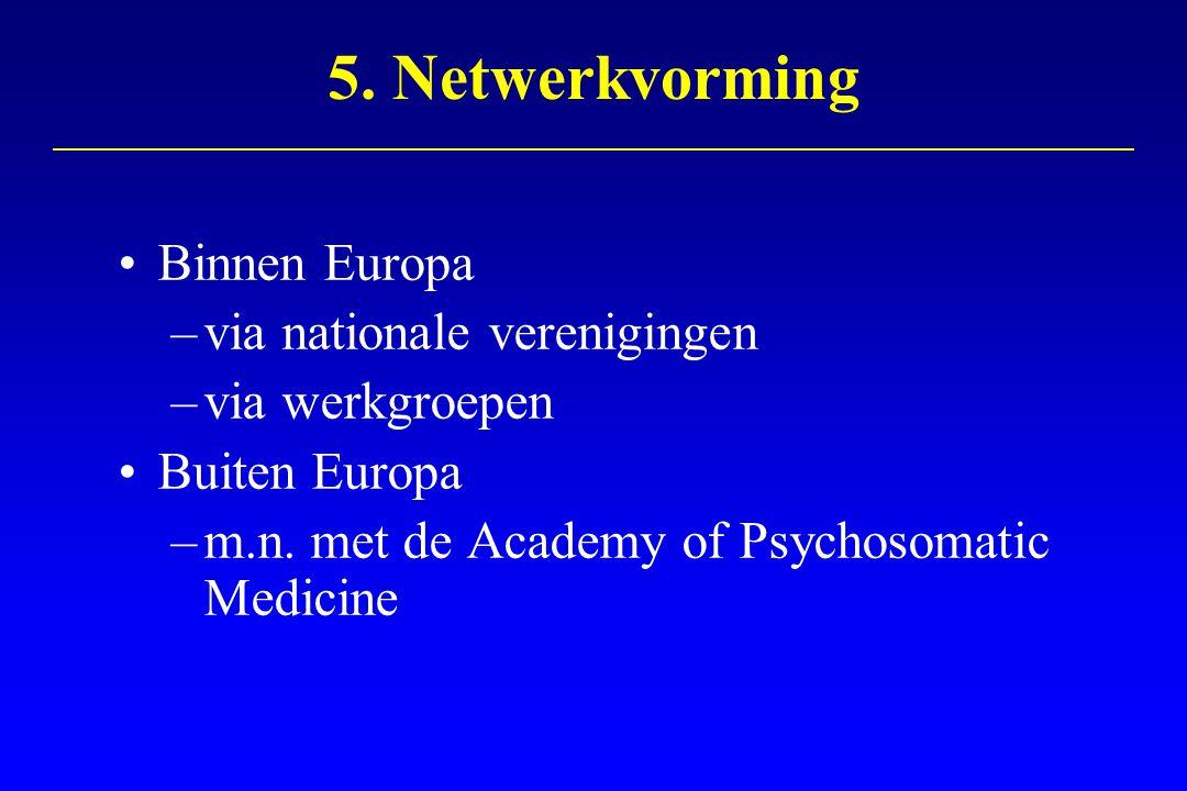 5. Netwerkvorming Binnen Europa via nationale verenigingen