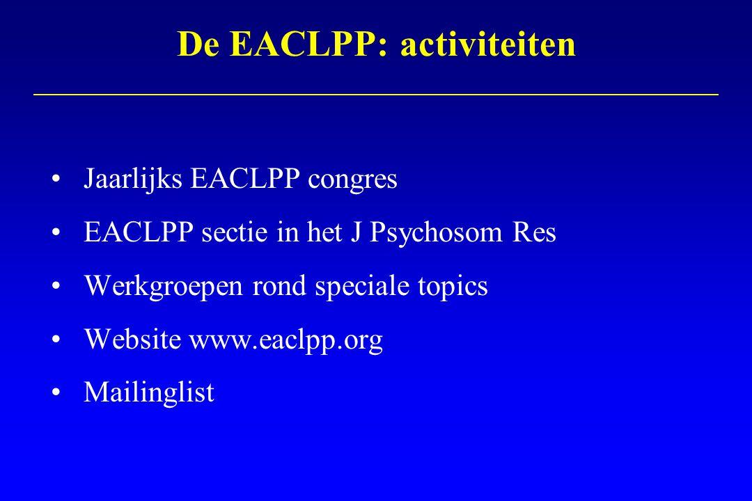 De EACLPP: activiteiten