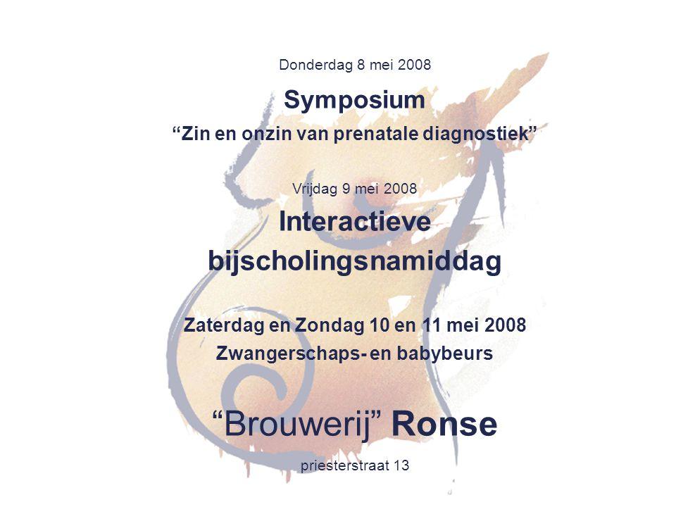 Brouwerij Ronse Interactieve bijscholingsnamiddag Symposium