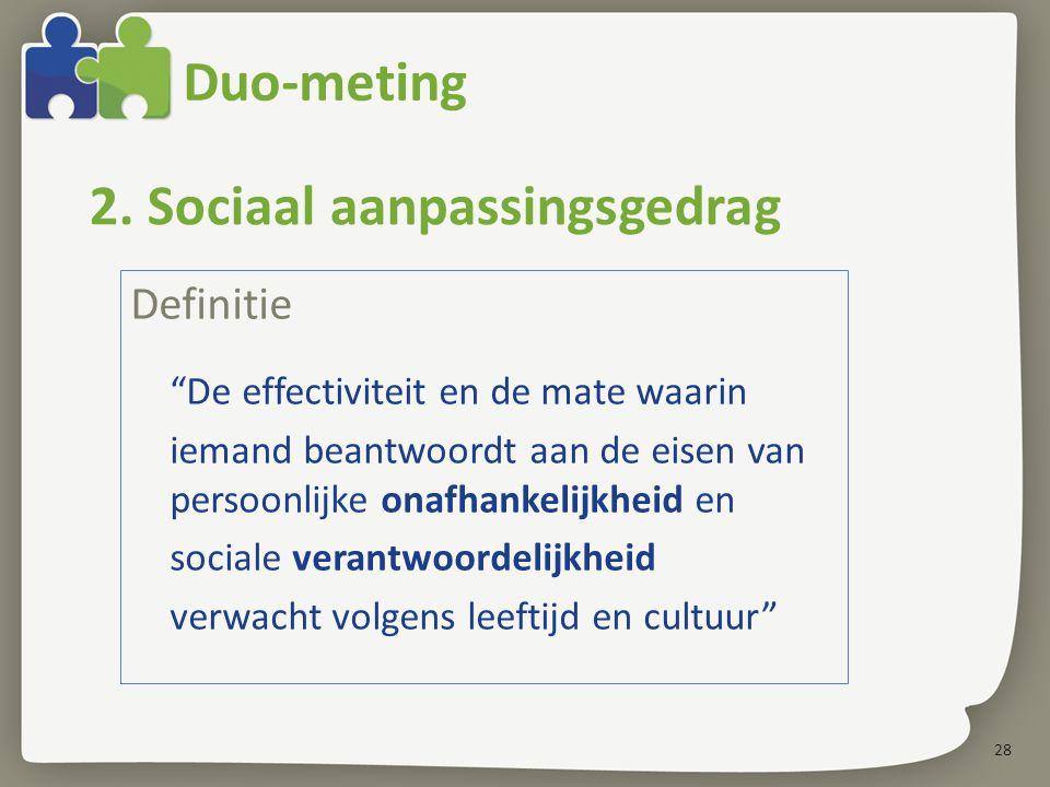 2. Sociaal aanpassingsgedrag