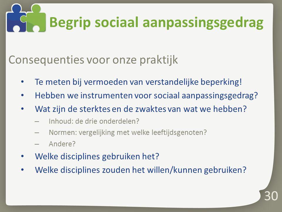 Begrip sociaal aanpassingsgedrag