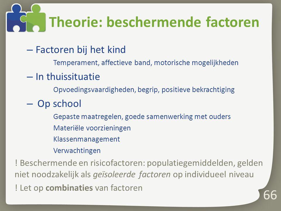 Theorie: beschermende factoren