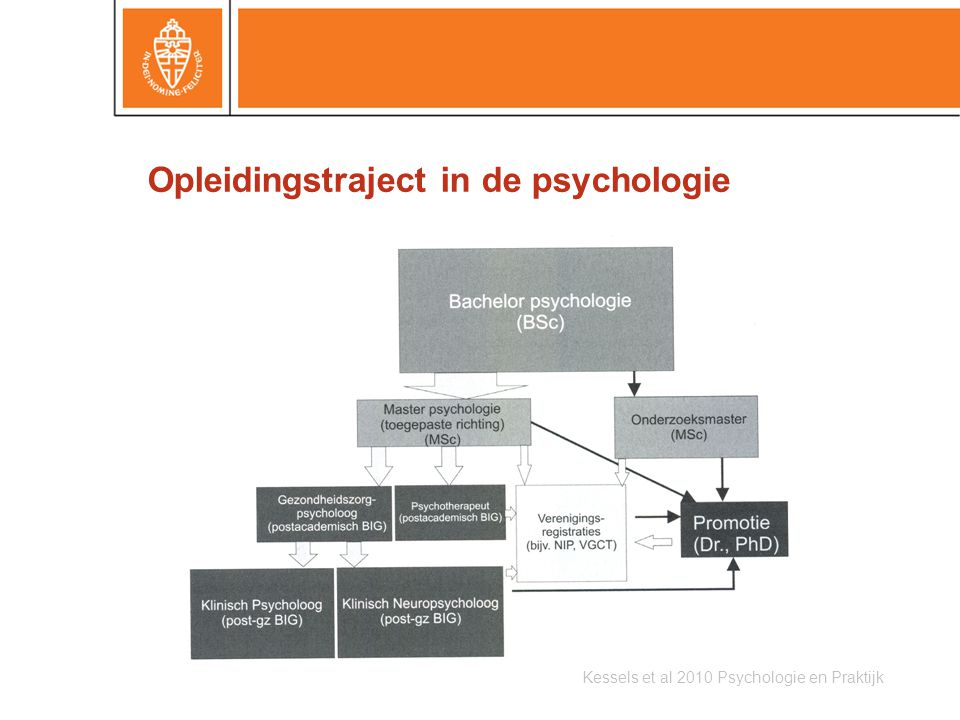 Opleidingstraject in de psychologie