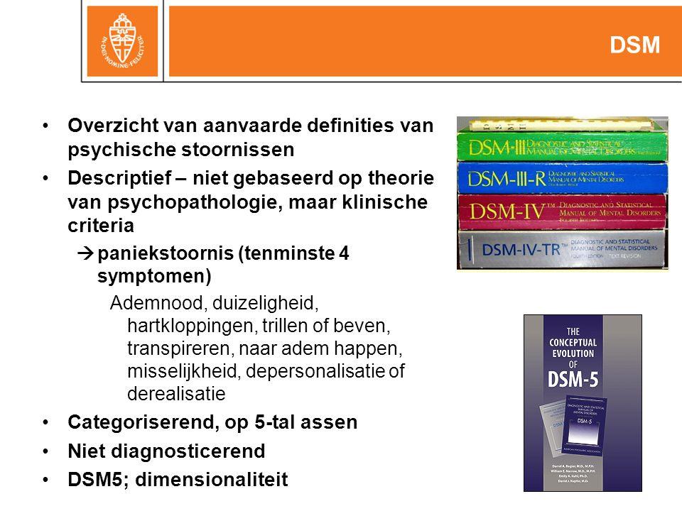 DSM Overzicht van aanvaarde definities van psychische stoornissen