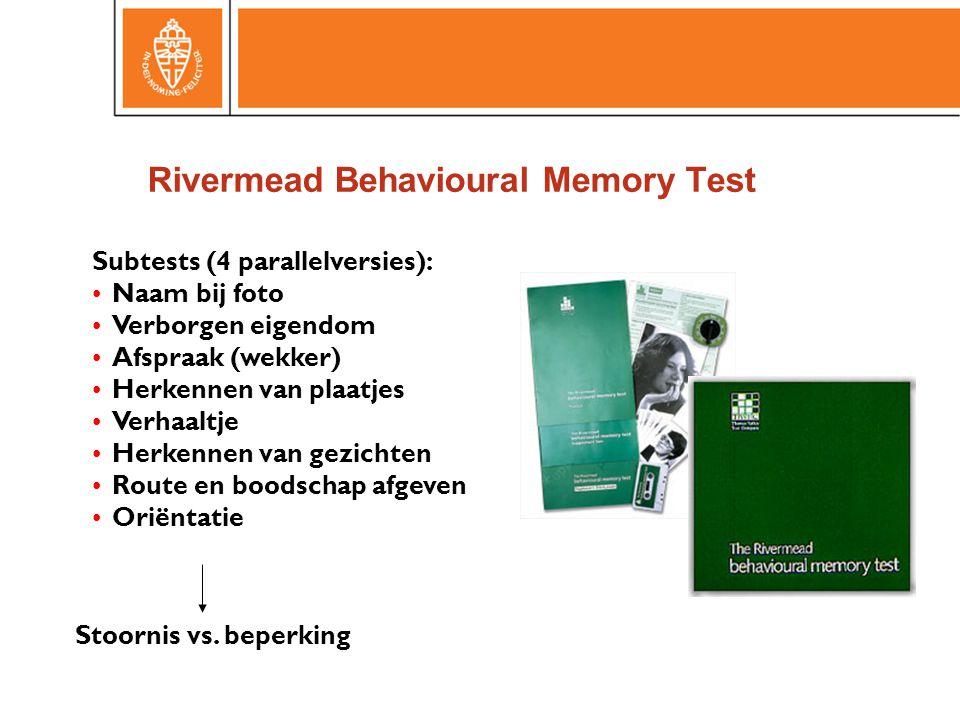 Rivermead Behavioural Memory Test