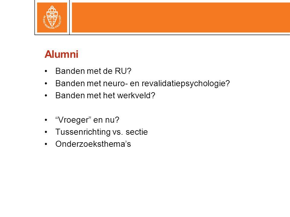 Alumni Banden met de RU Banden met neuro- en revalidatiepsychologie