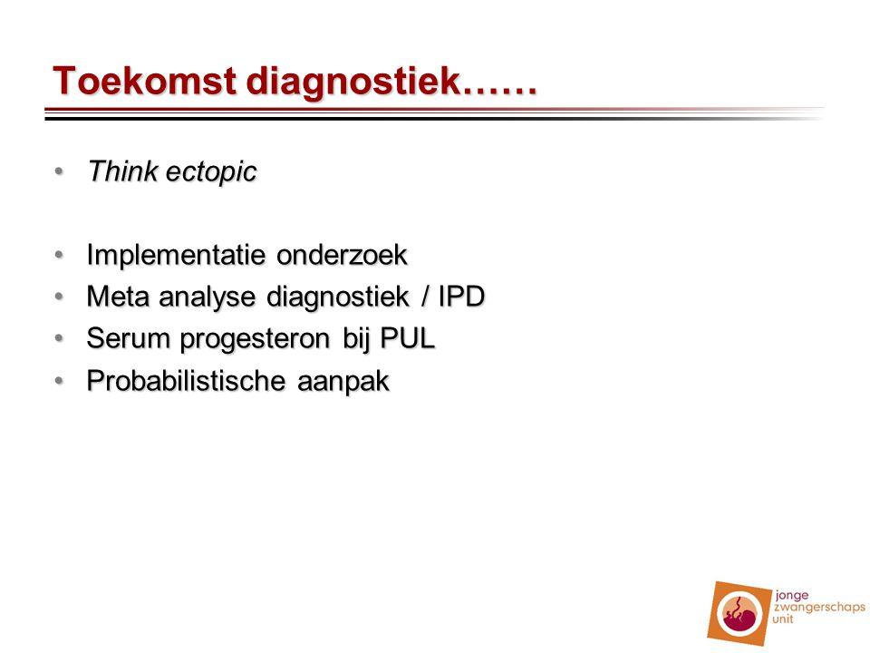 Toekomst diagnostiek……