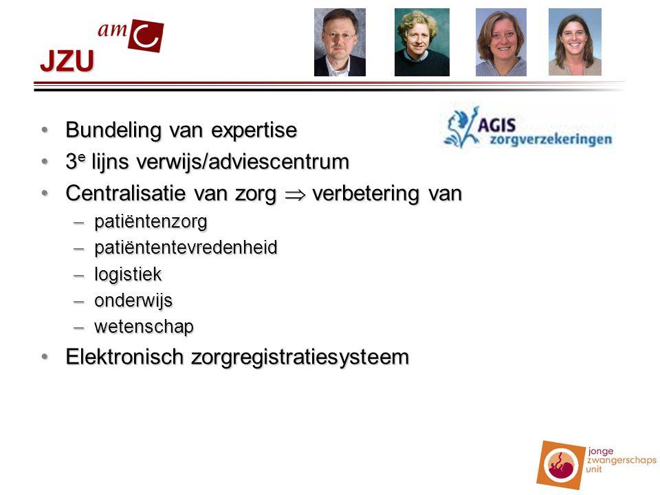 JZU Bundeling van expertise 3e lijns verwijs/adviescentrum