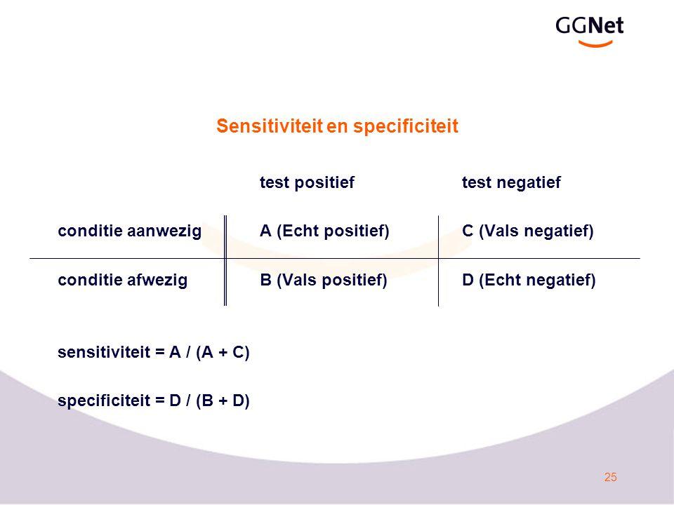 Sensitiviteit en specificiteit