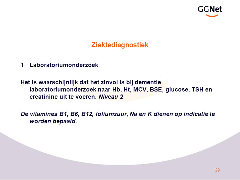 Ziektediagnostiek 1 Laboratoriumonderzoek