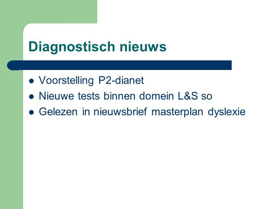 Diagnostisch nieuws Voorstelling P2-dianet