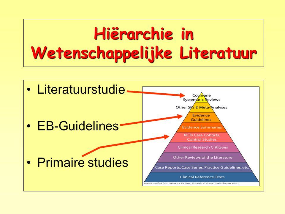 Hiërarchie in Wetenschappelijke Literatuur