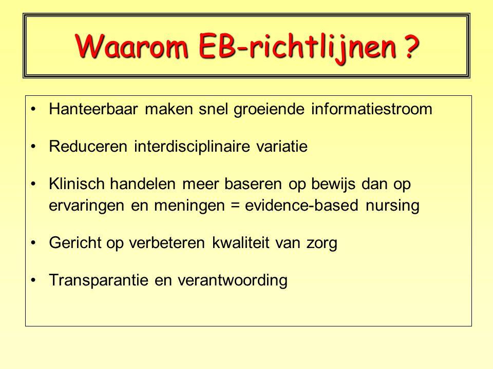 Waarom EB-richtlijnen