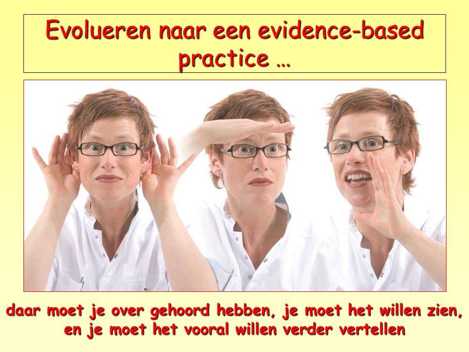 Evolueren naar een evidence-based practice …