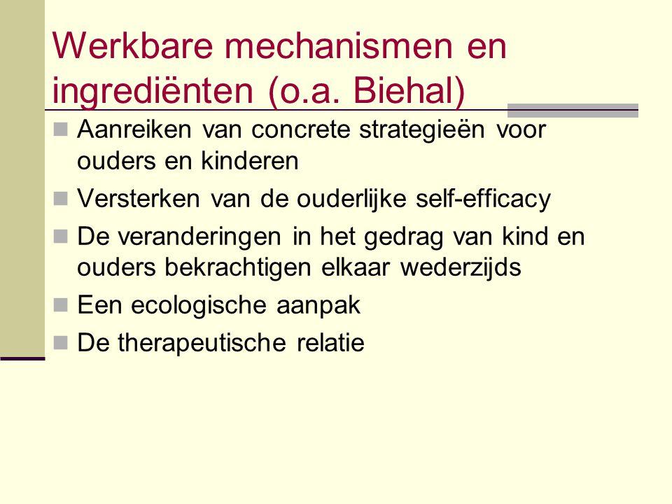 Werkbare mechanismen en ingrediënten (o.a. Biehal)