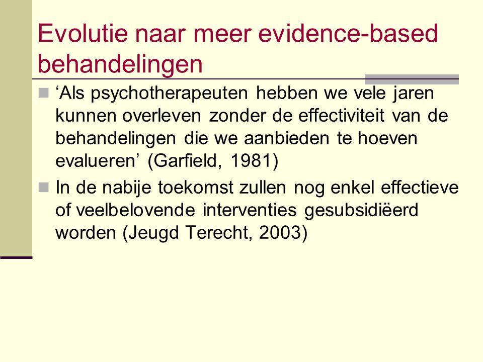 Evolutie naar meer evidence-based behandelingen