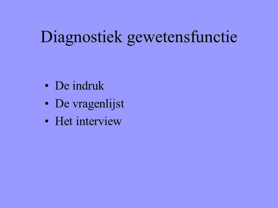 Diagnostiek gewetensfunctie